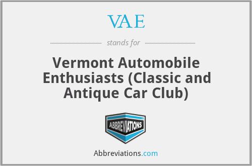 VAE - Vermont Automobile Enthusiasts (Classic and Antique Car Club)