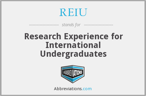 What does REIU stand for?