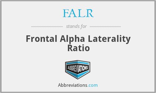 FALR - Frontal Alpha Laterality Ratio