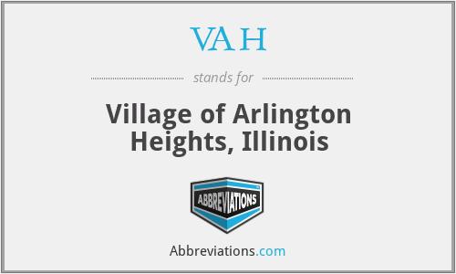 VAH - Village of Arlington Heights, Illinois