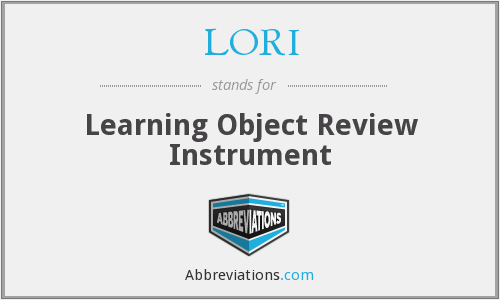 LORI - Learning Object Review Instrument