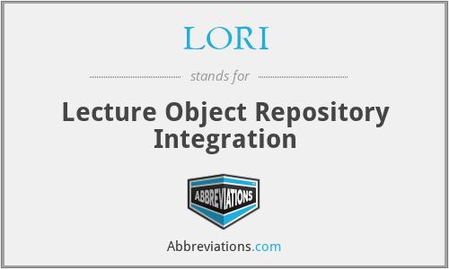 LORI - Lecture Object Repository Integration
