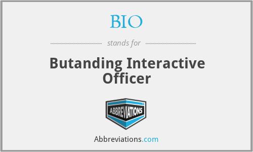BIO - Butanding Interactive Officer