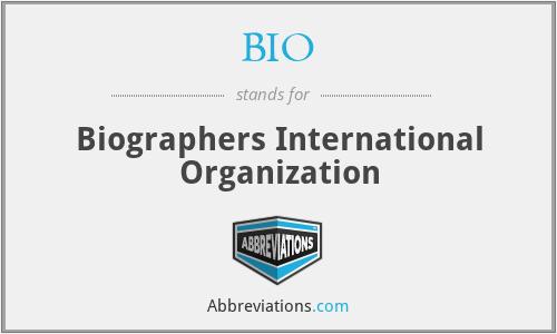 BIO - Biographers International Organization