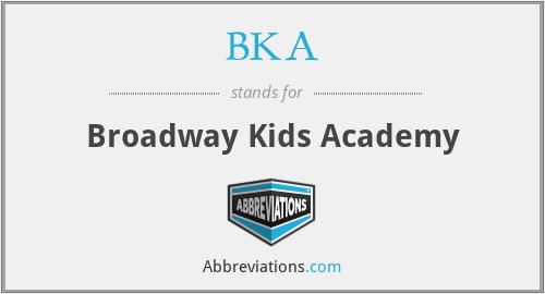 BKA - Broadway Kids Academy