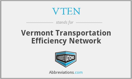 VTEN - Vermont Transportation Efficiency Network