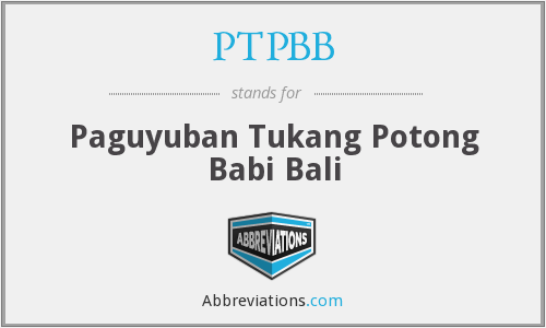 What does PTPBB stand for?