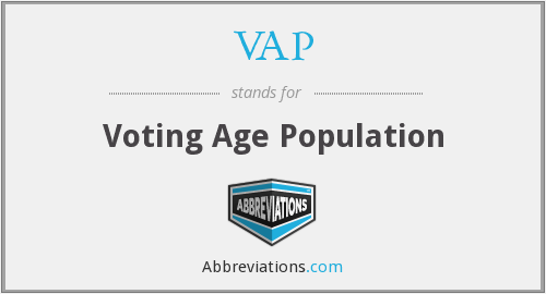 VAP - Voting Age Population