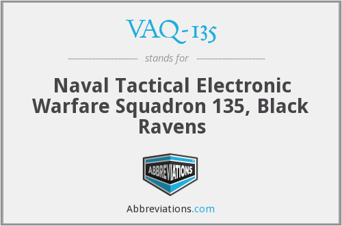 What does VAQ-135 stand for?