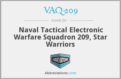 What does VAQ-209 stand for?