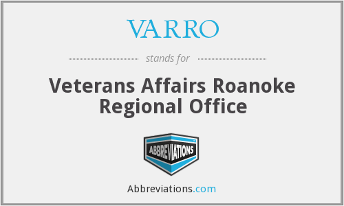 VARRO - Veterans Affairs Roanoke Regional Office