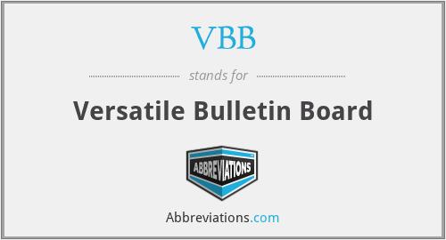 VBB - Versatile Bulletin Board