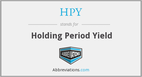 HPY - Holding Period Yield