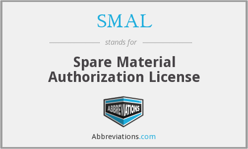 SMAL - Spare Material Authorization License