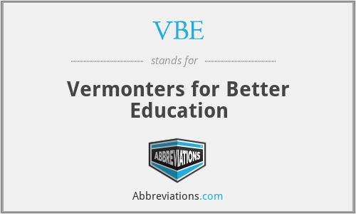 VBE - Vermonters for Better Education