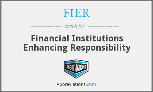 What does FIER stand for?