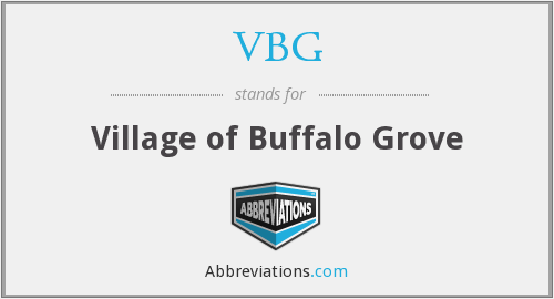 What does VBG stand for?
