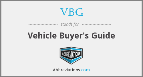 VBG - Vehicle Buyer's Guide