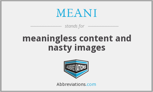 What does MEANI stand for?