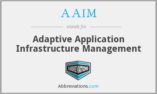 AAIM - Adaptive Application Infrastructure Management