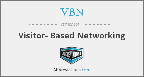 VBN - Visitor- Based Networking