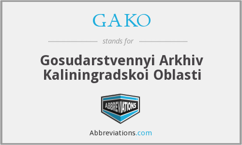 What does GAKO stand for?