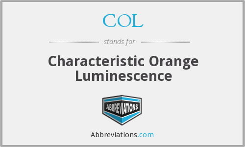 COL - Characteristic Orange Luminescence