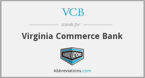 VCB - Virginia Commerce Bank