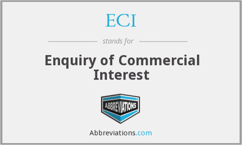 ECI - Enquiry of Commercial Interest