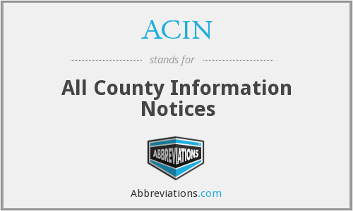 What does ACIN stand for?