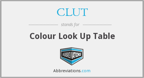 CLUT - Colour Look Up Table