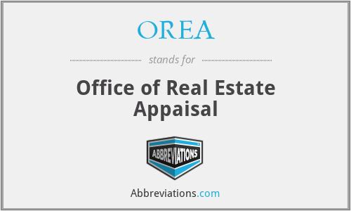 OREA - Office of Real Estate Appaisal