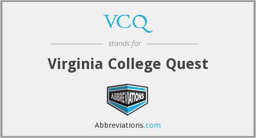 What does VCQ stand for?