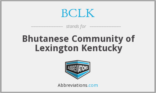 What does BCLK stand for?