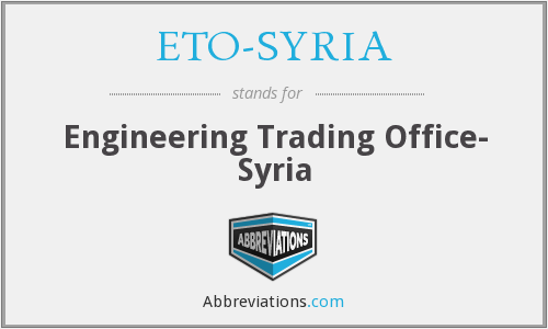 ETO-SYRIA - Engineering Trading Office- Syria
