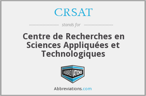 What does CRSAT stand for?