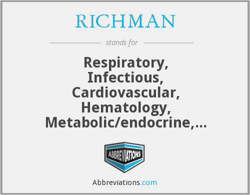 What does RICHMAN stand for?