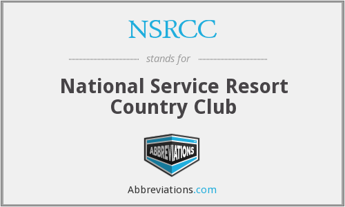 What does NSRCC stand for?