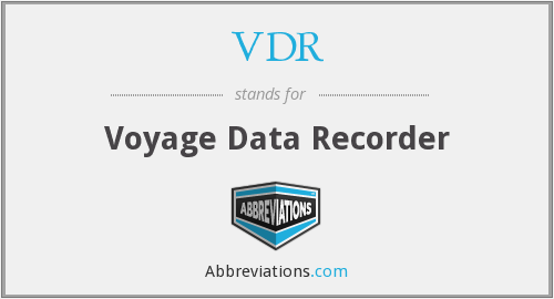 VDR - Voyage Data Recorder