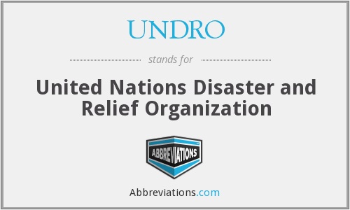UNDRO - United Nations Disaster and Relief Organization