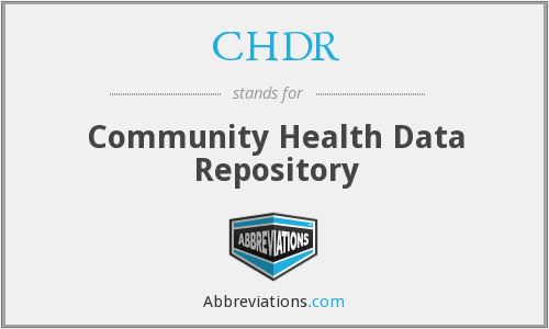 CHDR - Community Health Data Repository