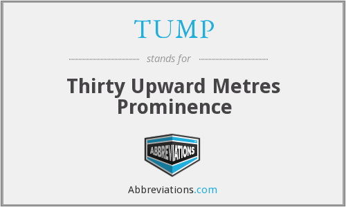 TUMP - Thirty Upward Metres Prominence