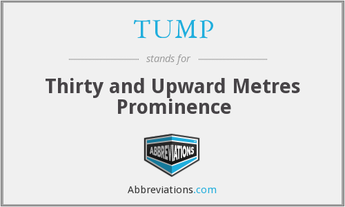 TUMP - Thirty and Upward Metres Prominence