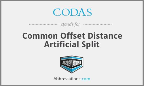 CODAS - Common Offset Distance Artificial Split