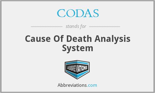 CODAS - Cause Of Death Analysis System