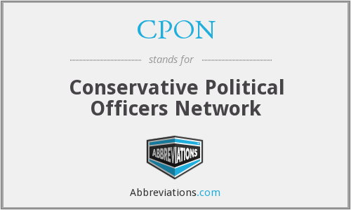 CPON - Conservative Political Officers Network