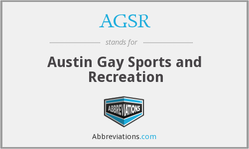 AGSR - Austin Gay Sports and Recreation