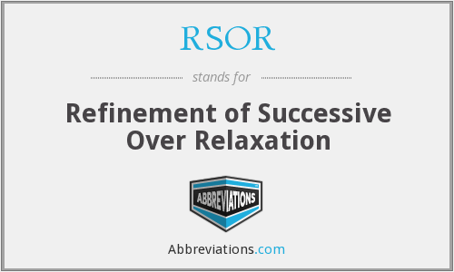 RSOR - Refinement of Successive Over Relaxation