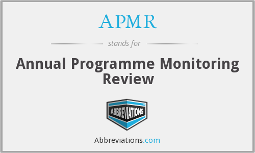 APMR - Annual Programme Monitoring Review