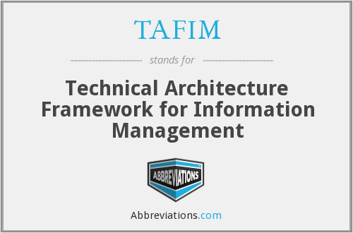 TAFIM - Technical Architecture Framework for Information Management